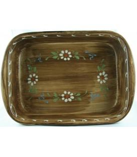 Plat à lasagne 32 cm - Faux bois fleur