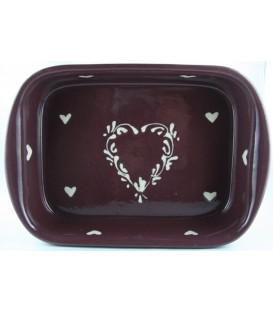 Plat à lasagne 35 cm - Aubergine coeur nature