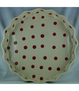 Tourtière 30 cm - Nature point rouge