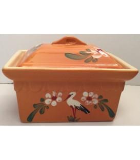 Terrine rectangulaire - Mandarine cigogne