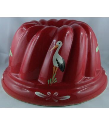 Kougelhopf pour 6 à 8 personnes - Rouge cigogne