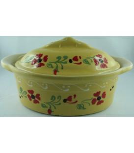 Terrine ovale miniature/verrine - Jaune fleur coquelicot
