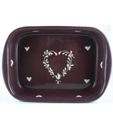 Plat à lasagne 39 cm - Aubergine coeur nature