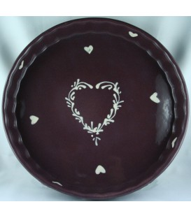 Tourtière 28 cm - Aubergine coeur nature