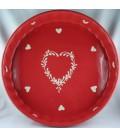 Tourtière 28 cm - Rouge coeur nature