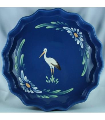 Tourtière 30 cm - Bleu jean cigogne