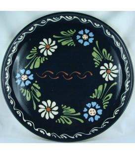 Plat à tarte - Bleu fleur