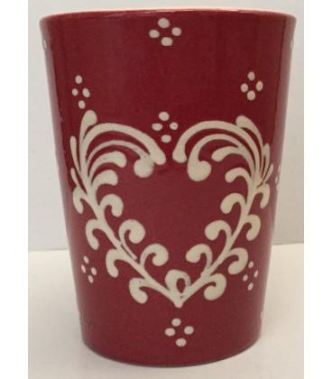 Mug rouge coeur nature